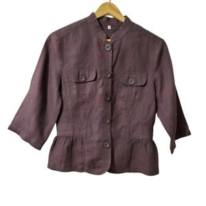Rocha John Rocha Linen Top Brown Size XS